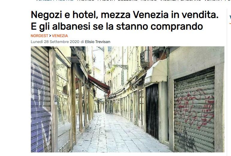 """""""Shqiptarët po blejnë gjysmën e Venecias""""/ Mediat italiane në """"alarm"""", dyshuese për burimin e parave"""