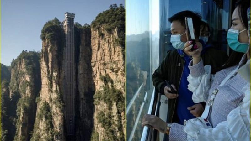 Prej xhami dhe 326 metra i lartë/ Njihuni me ashensorin më të lartë në botë