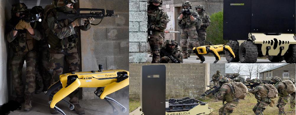 Ushtria e Francës stërvitet bashkë me robotët, me këmbë e me rrota (fotot)